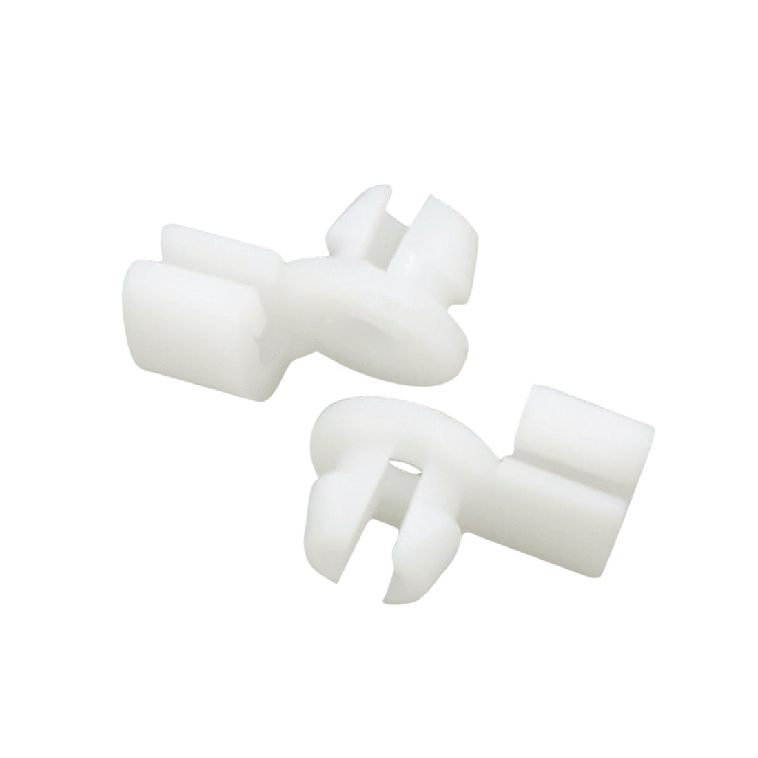 100pcs 8.5mm Hole Dia Plastic Rivets Trim Fastener Car Door Moulding Clips White