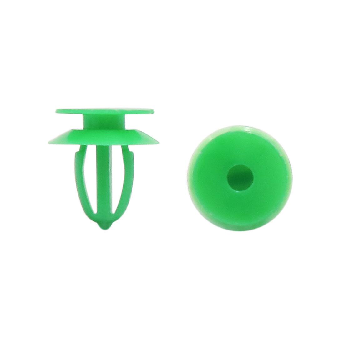 9mm Hole Dia Plastic Clips Fastener Auto Car Door Expanding Rivets Green 100 Pcs