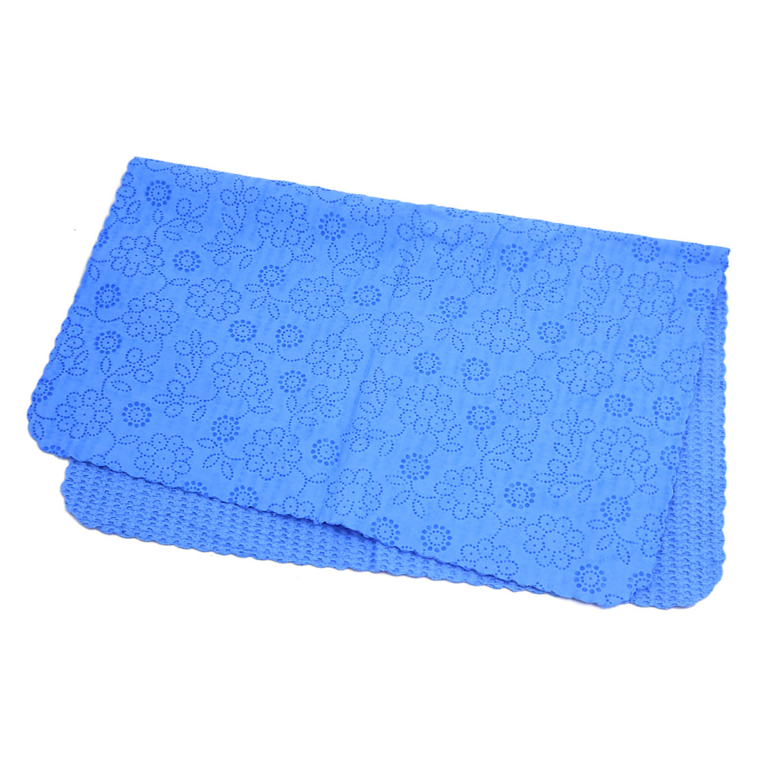 43.3 x 32.6cm Blue Faux Chamois Leather Cleaning Cloth Hair Drying Towel
