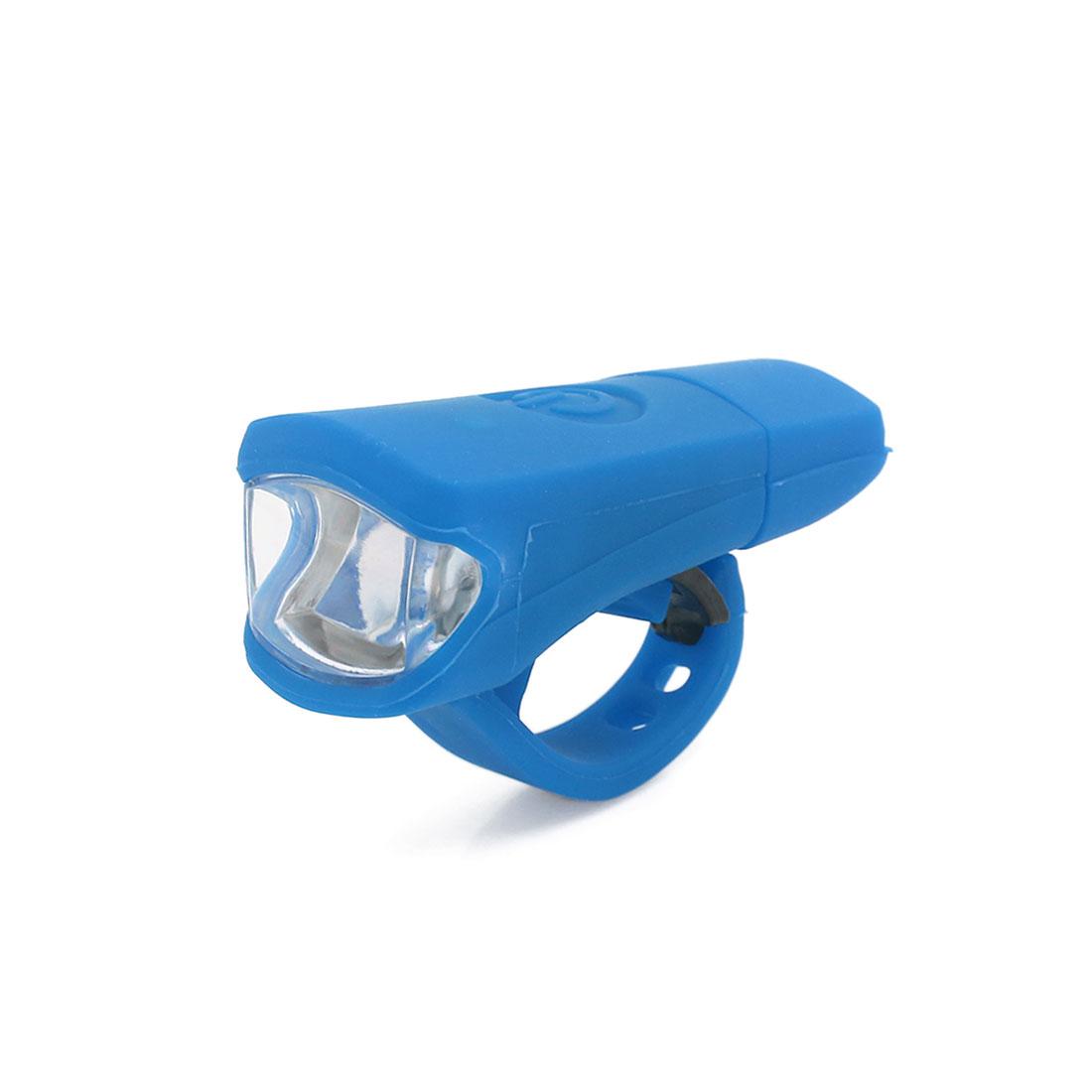 Universal Blue White Light 3 Modes 2 LED USB Rechargeable Bike Headlight