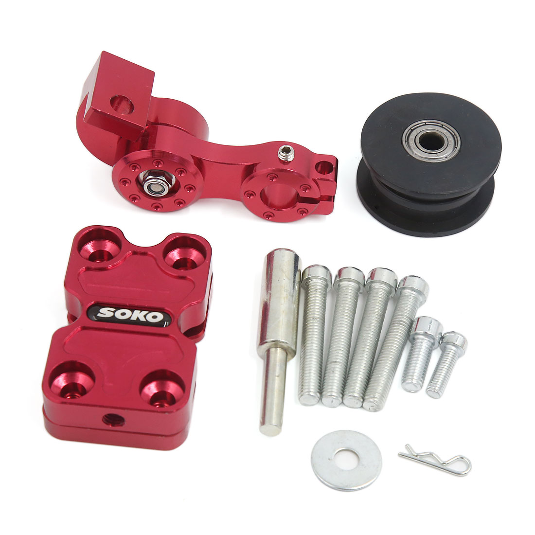Red Color Aluminum Alloy CNC Chain Tensioner Adjuster Tool for Motorcycle