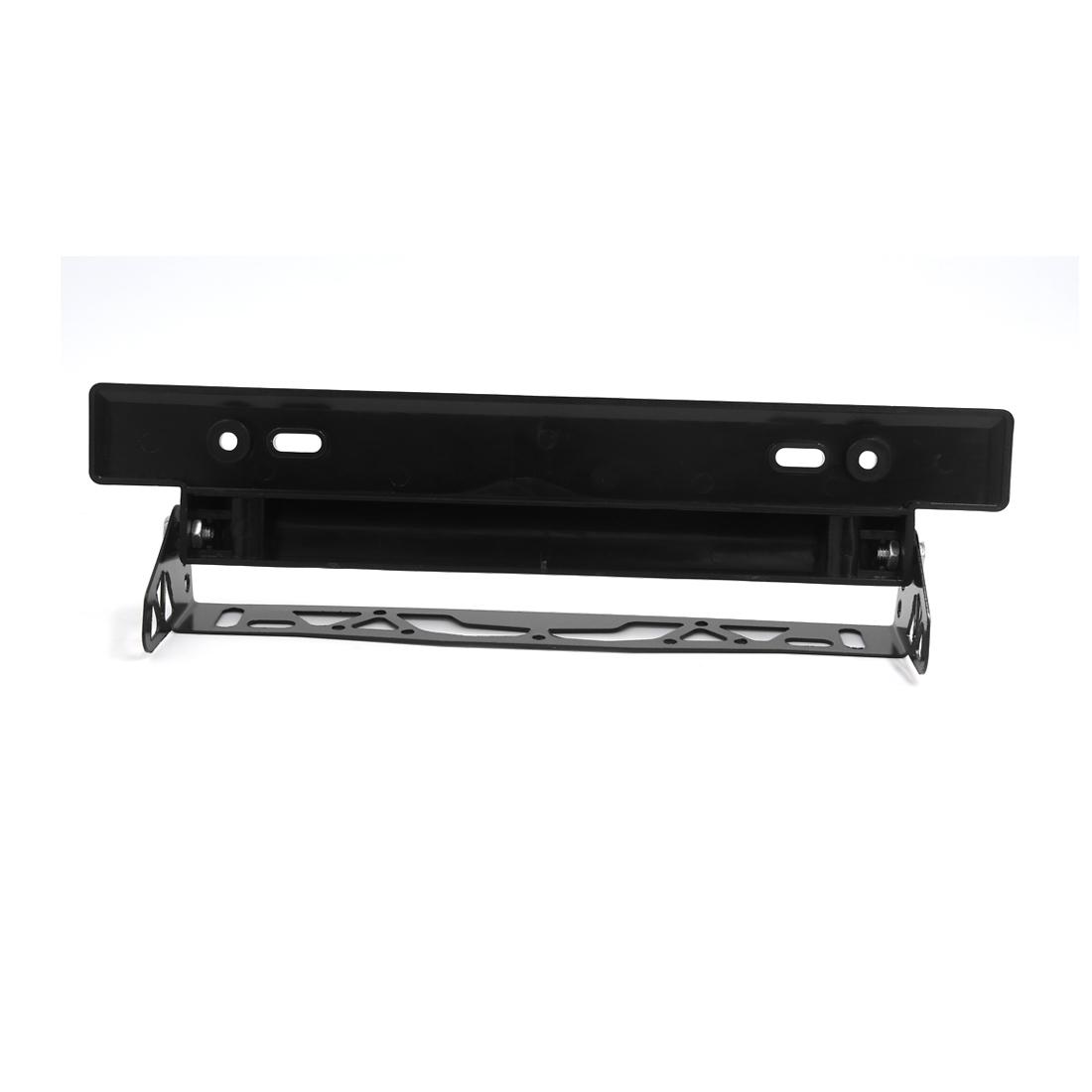 Universal Black Bumper Adjustable Tilt License Plate Bracket for Car Auto