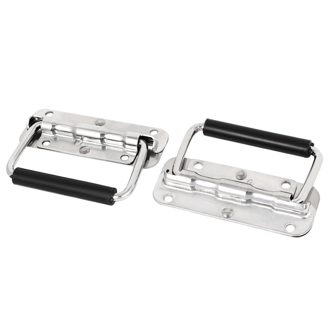 Toolbox Door Cabinet Box Spring Loaded Stainless Steel Puller Chest Handle 2 Pcs