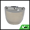 Silver Tone Bubble 3-Snap Motorcycle Helmet Visor Fashion Safety Shield Lens New