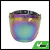 Colorful Bubble 3-Snap Motorcycle Helmet Visor Fashion Shield Lens New