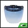 Ocean Blue Bubble 3-Snap Motorcycle Helmet Visor Fashion Safety Lens New