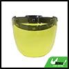 Yellow Bubble 3-Snap Motorcycle Helmet Visor Fashion Safety Shield Lens