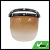 Brown Bubble 3-Snap Motorcycle Helmet Visor Flip Up Wind Face Shield Lens New
