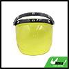 Lemon Yellow Bubble 3-Snap Motorcycle Helmet Visor Flip Up Wind Face Shield Lens