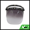 Shallow Tawny Bubble 3-Snap Motorcycle Helmet Visor Flip Up Wind Face Lens