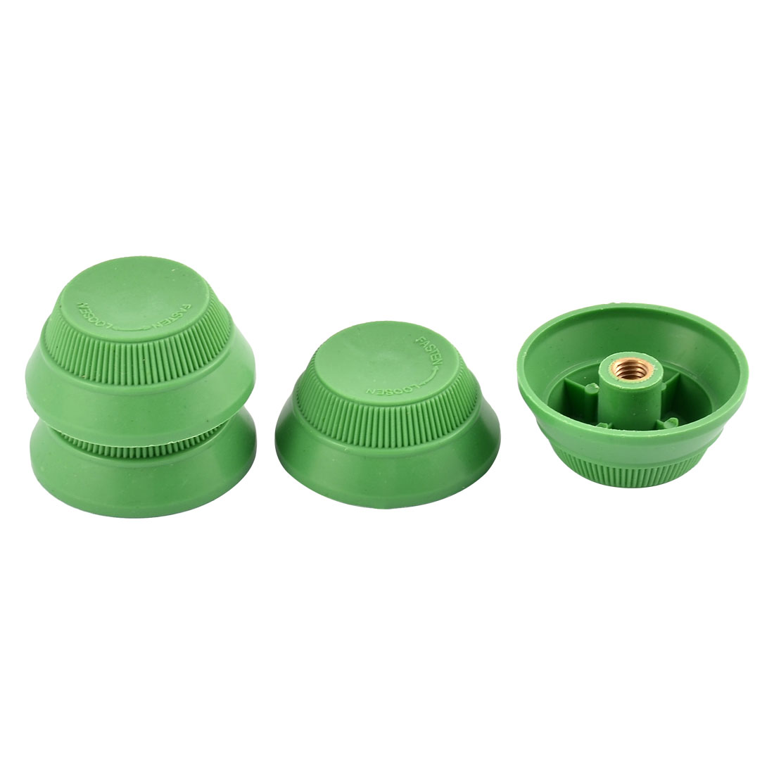 7mm Diameter Female Thread Wall Desk Fan Blade Nuts Green 4 PCS