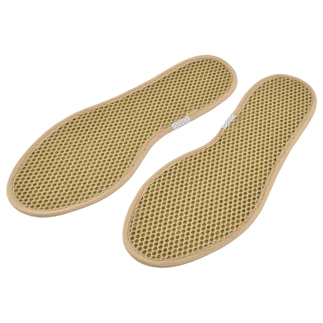 Men Full Length Fabric Insert Pad Washable Pure Barefoot Insole Khaki EU Size 40