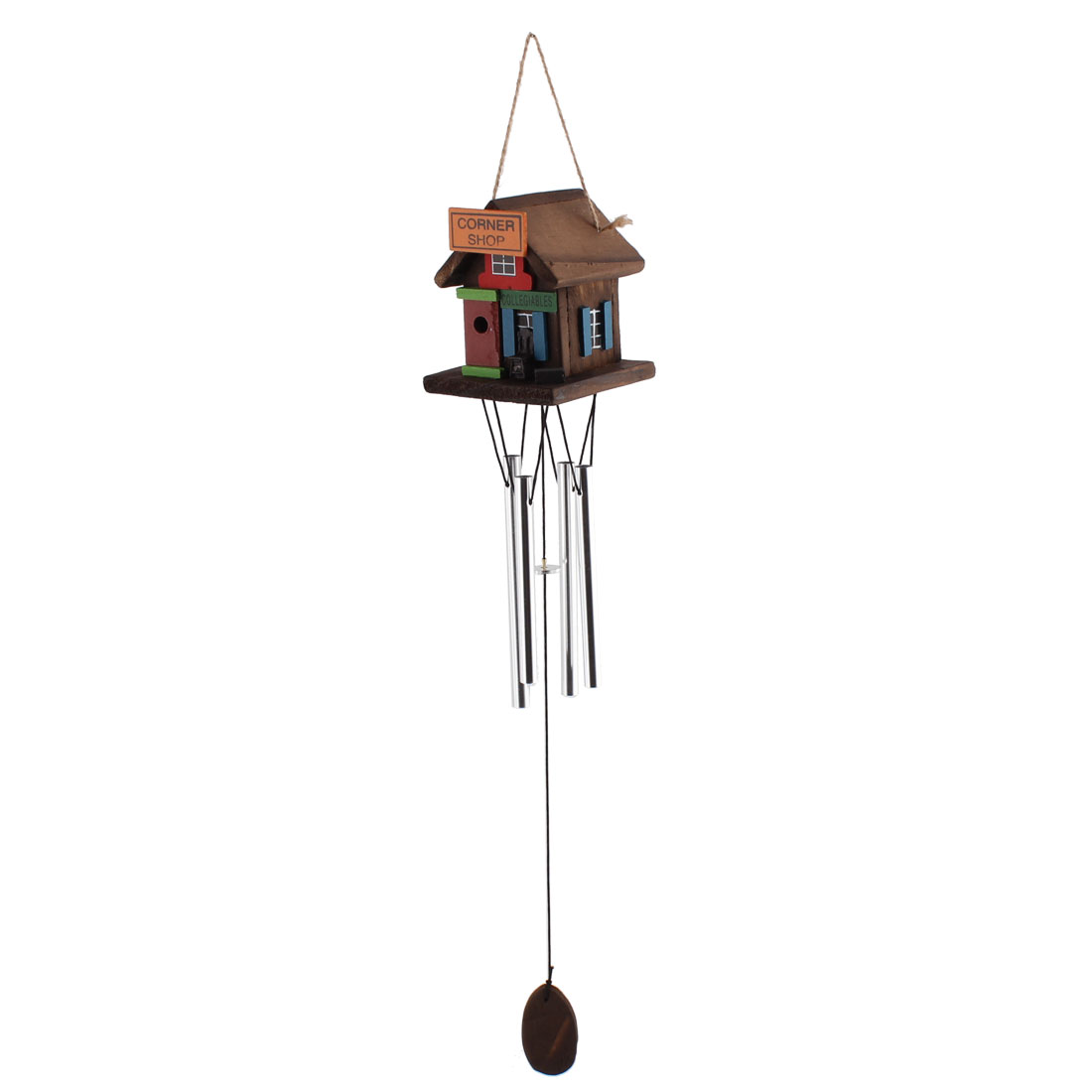Windmill House Design Farmhouse Style Handmade Hanging Windbell Multicolor for Decoration