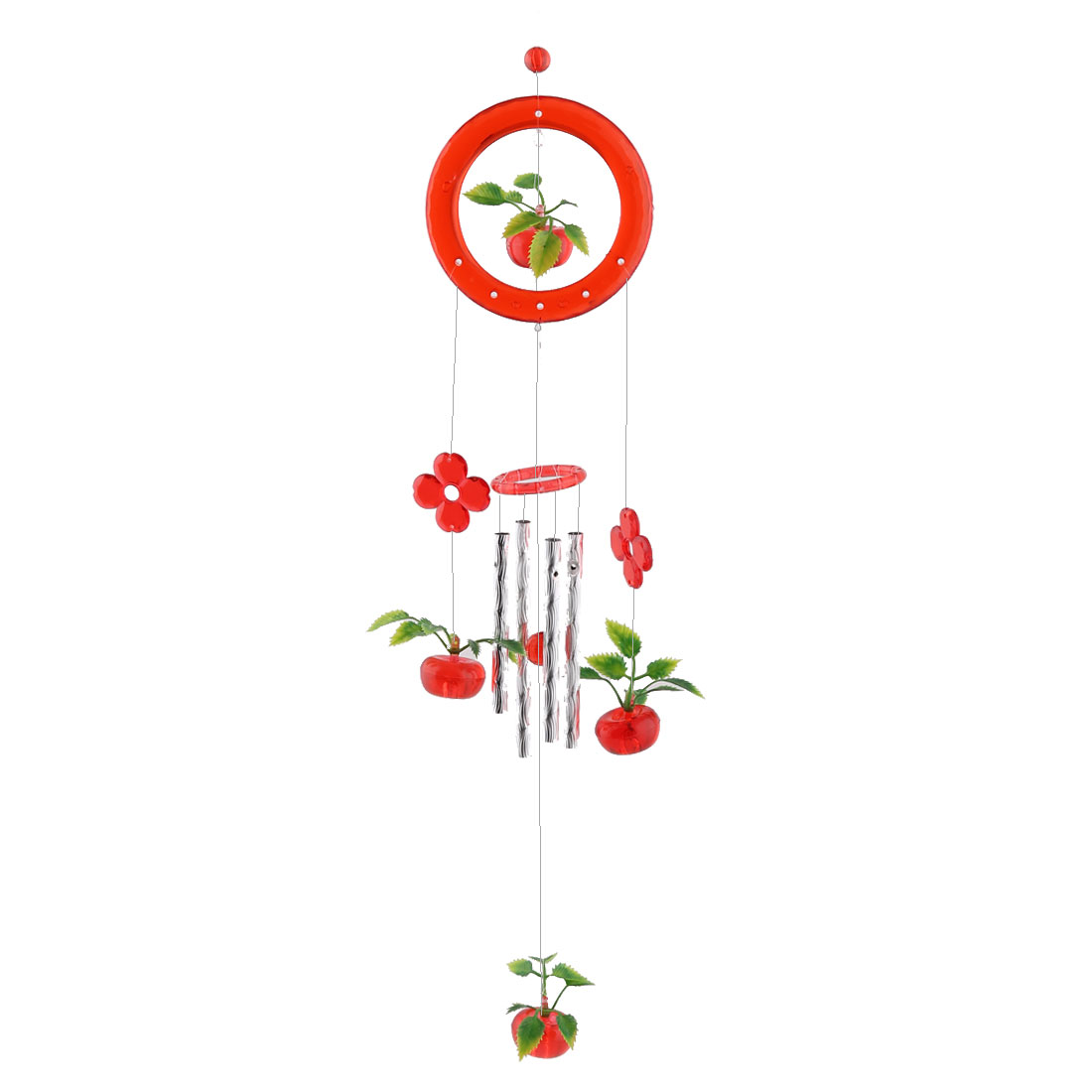 Household Metal Tubes Apples Hanging Decor Gift Wind Chime Bell Windbell Red