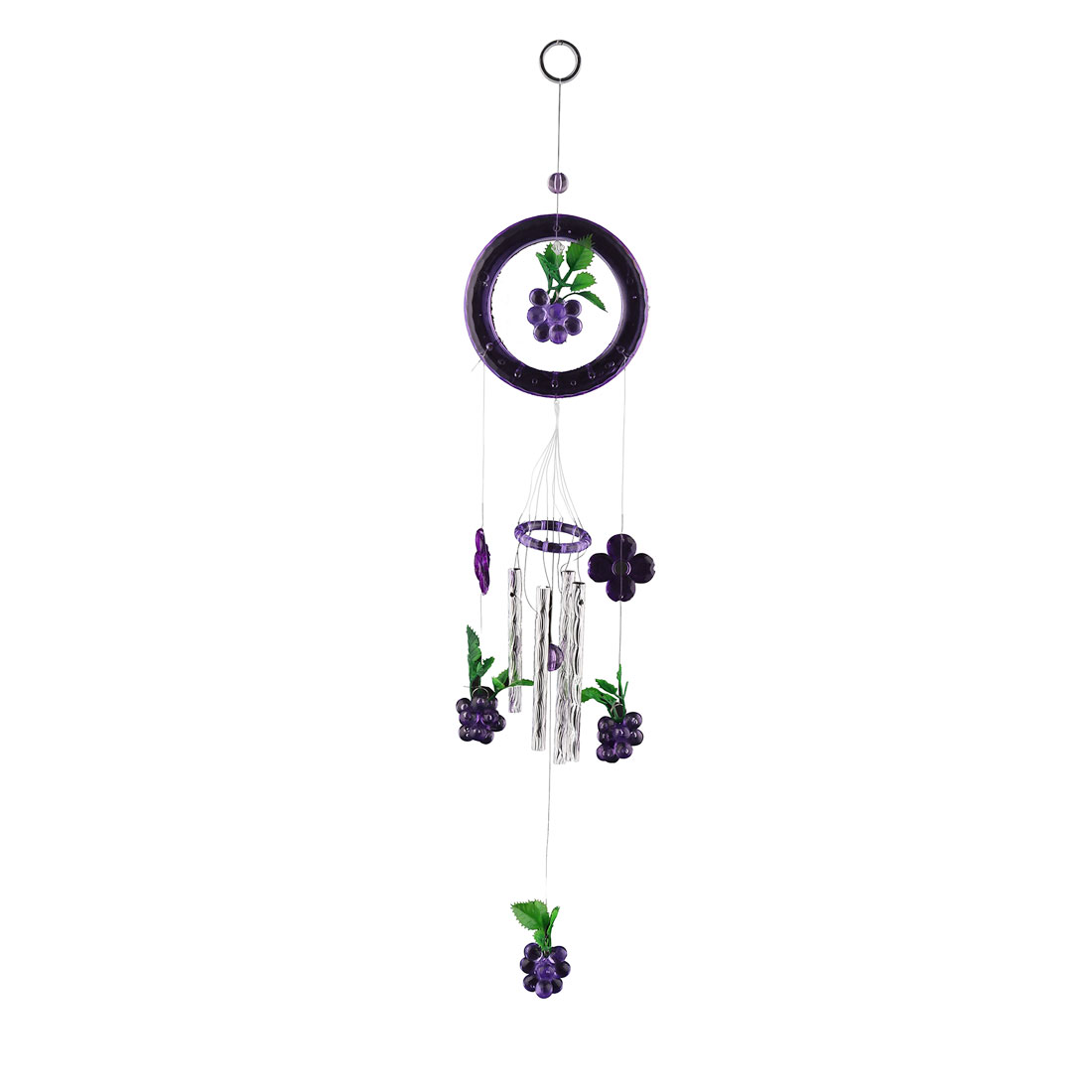 Home Bedroom Plastic Birthday Gift 4 Tubes Grape Hanging Wind Bell Chime Windbell