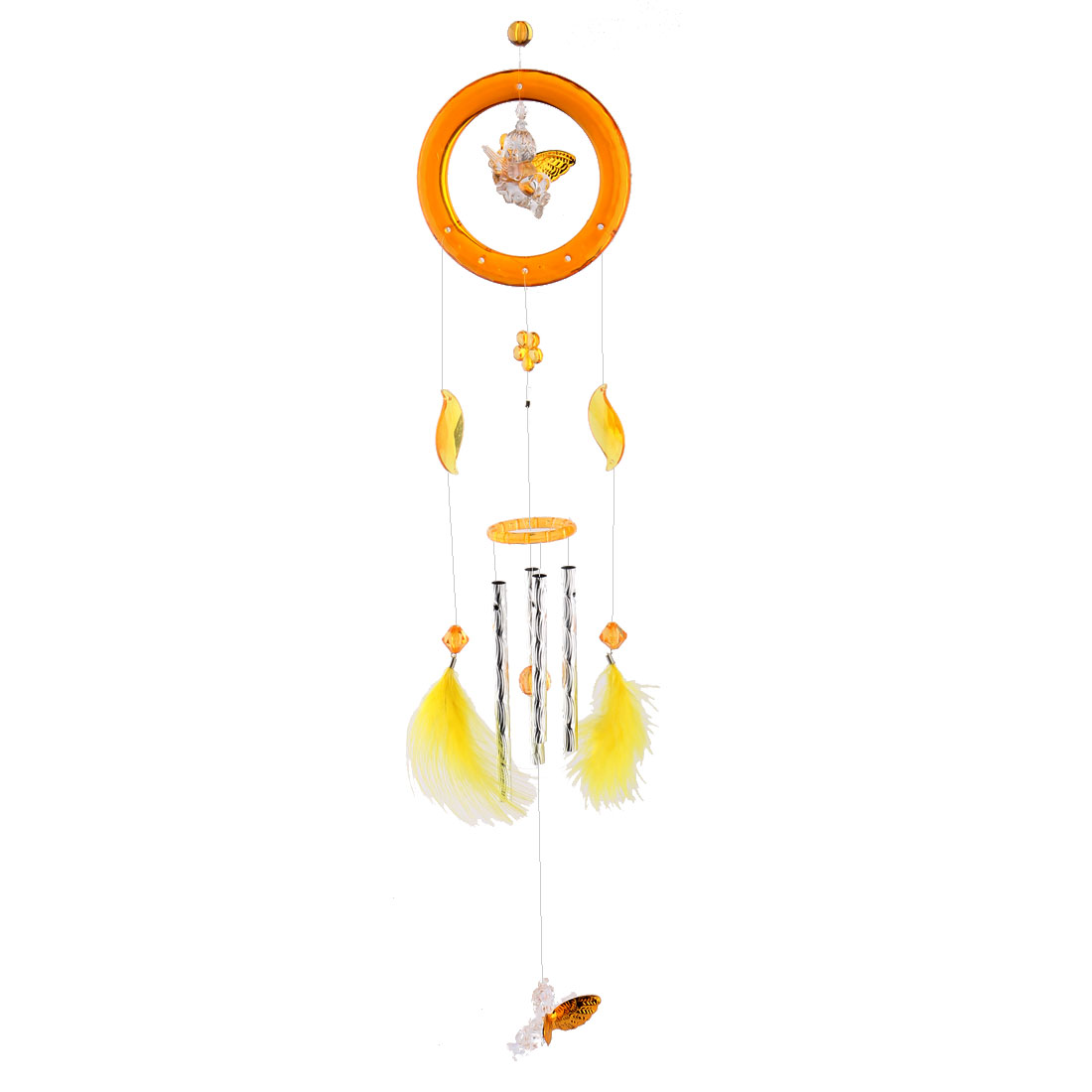 Bedroom Plastic Birthday Gift 4 Tubes Angels Hanging Wind Bell Chime Windbell