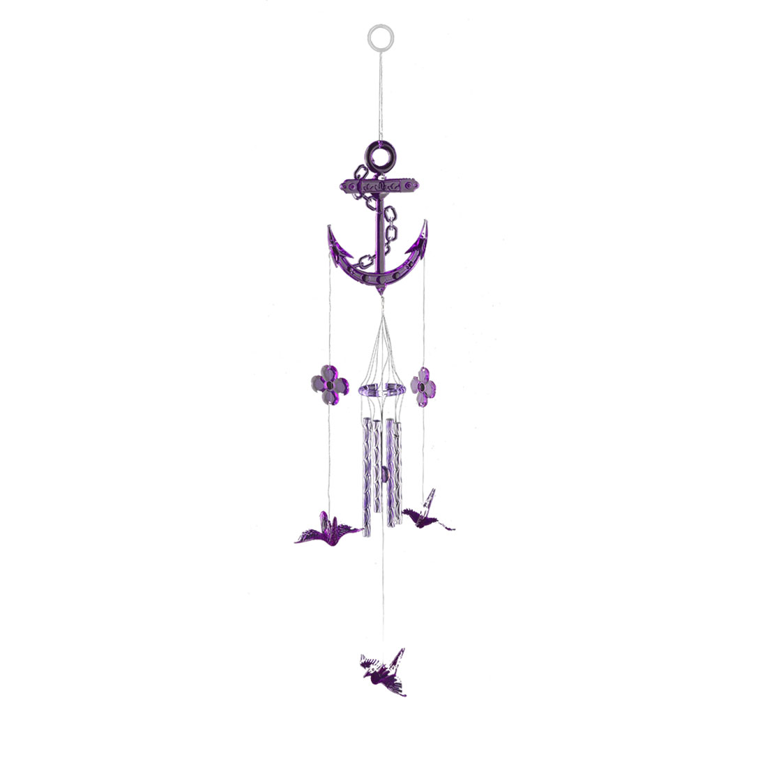 Bedroom Plastic Birthday Gift 4 Tubes Origami Hanging Wind Bell Chime Windbell