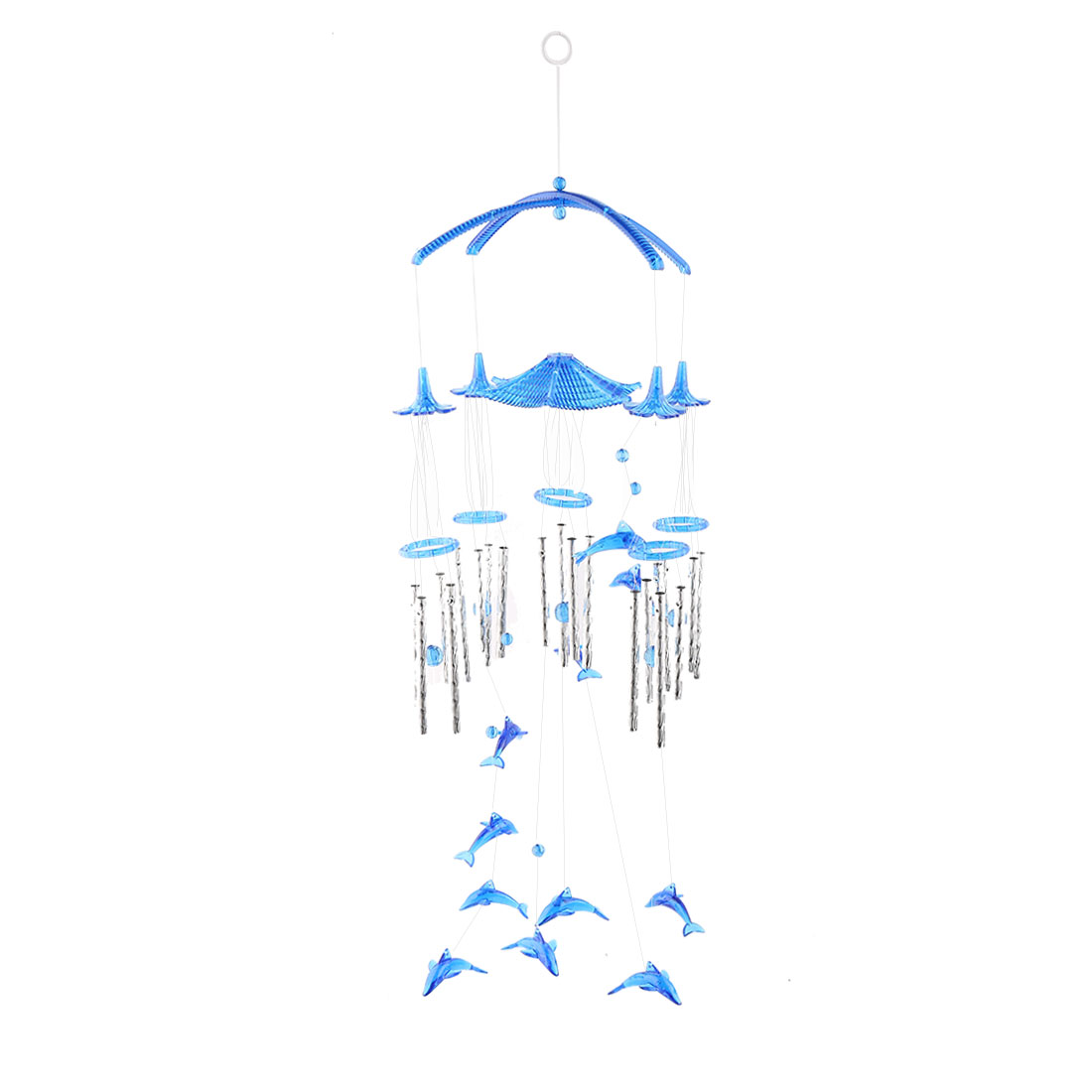 Living Room Metal Tubes Dolphin Hanging Adornment Gift Wind Chime Bell Windbell