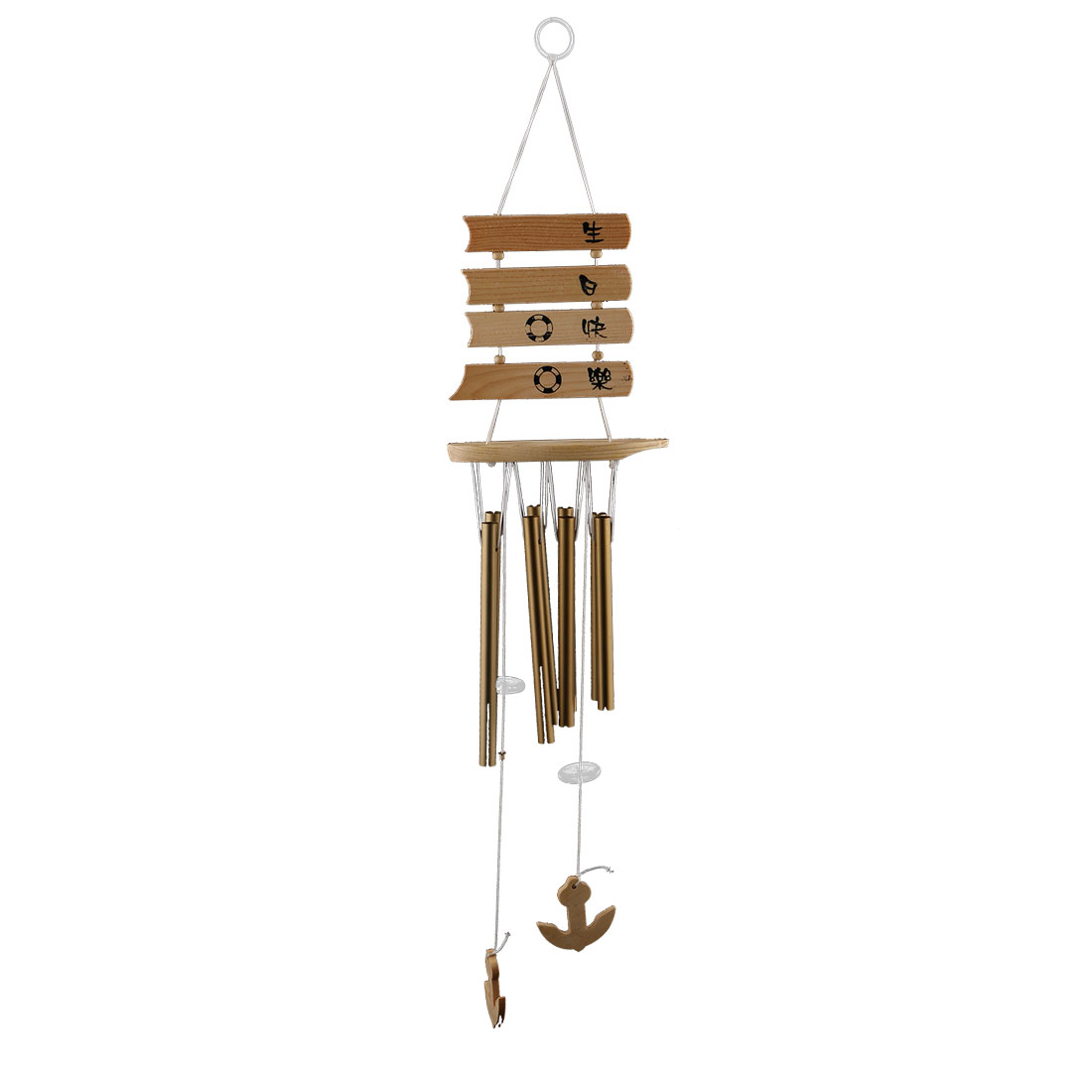 Living Room Metal Tubes Hanging Birthday Gift Adornment Wind Chime Bell Windbell