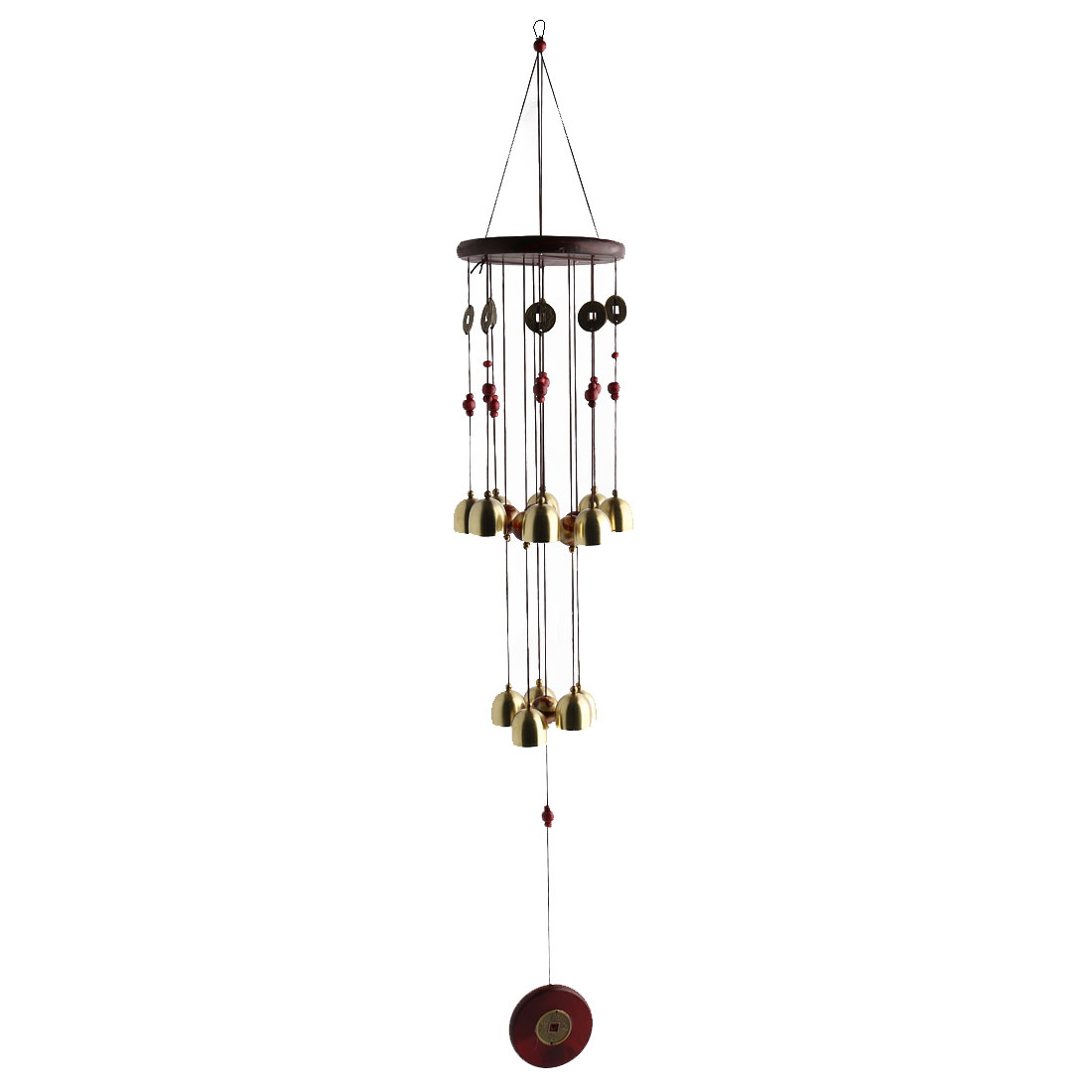 Home Chinese Style Bells Beads Hanging Birthday Gift Wind Chime Bell Windbell
