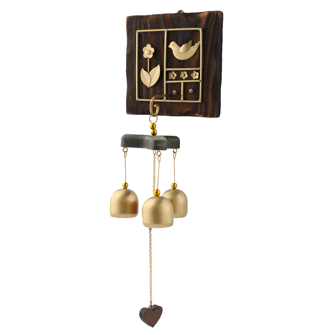 Home Copper Retro Style Self Adhesive Hook Hanging Decor Wind Bell Chime Windbell