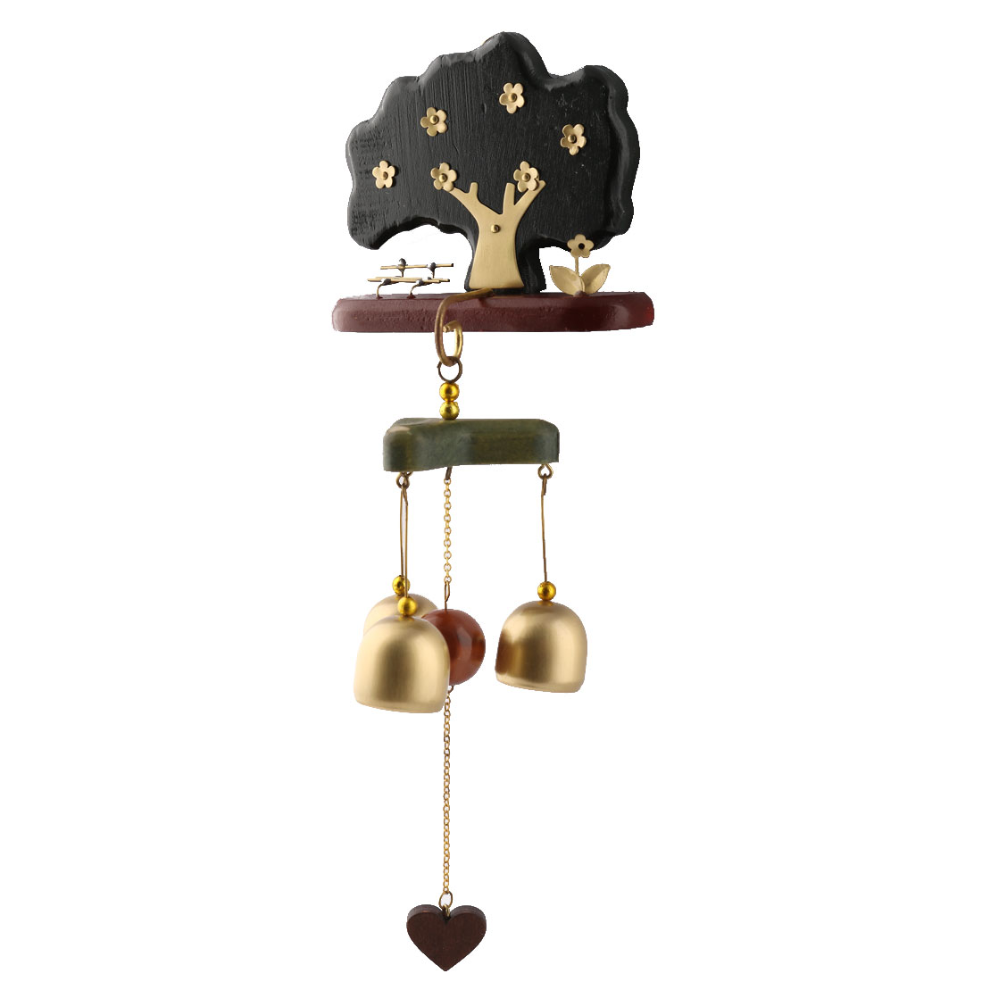Bar Copper Birthday Gift Tree Shaped Hook Hanging Decor Wind Bell Chime Windbell