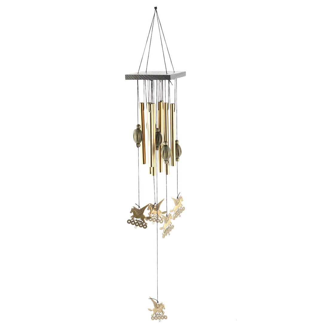 Home Metal Tubes Flying Horse Hanging Birthday Gift Wind Chime Bell Windbell