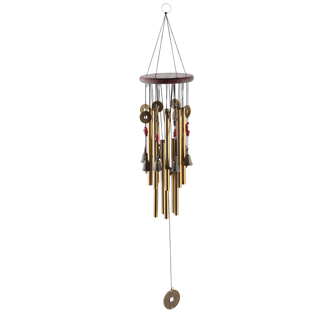 Living Room Metal Tubes Hanging Decor Gift Wind Chime Bell Windbell Bronze Tone