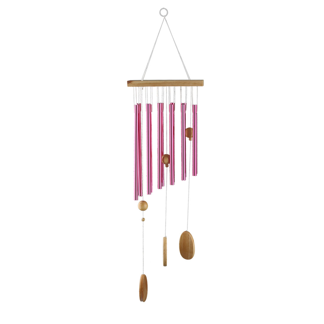 Living Room Metal Tubes Hanging Decor Gift Wind Chime Bell Windbell Fuchsia