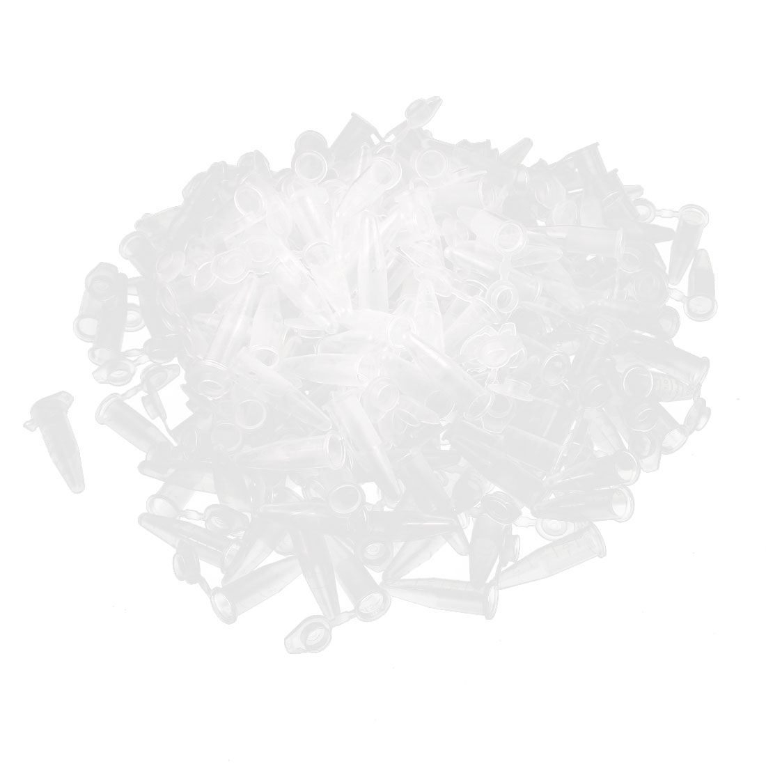200Pcs 1.5ml Plastic Clear EP Tube Centrifuge Tubes for Laboratory w Graduated