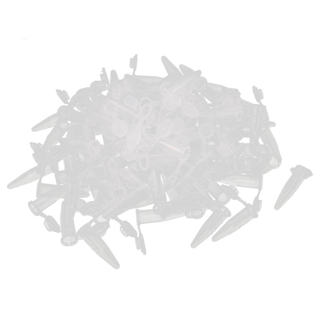 100Pcs 0.5ml Plastic Clear EP Tube Centrifuge Tubes for Laboratory w Graduated