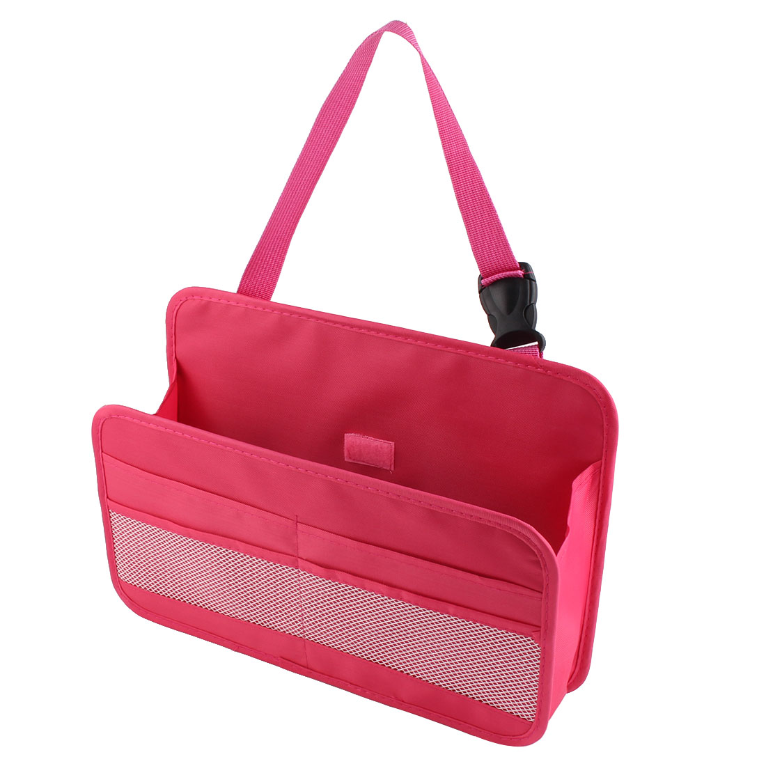 Car Automobile Multi Function Buckle Strap Phone Book Tissue Organizer Storage Box Container Magenta