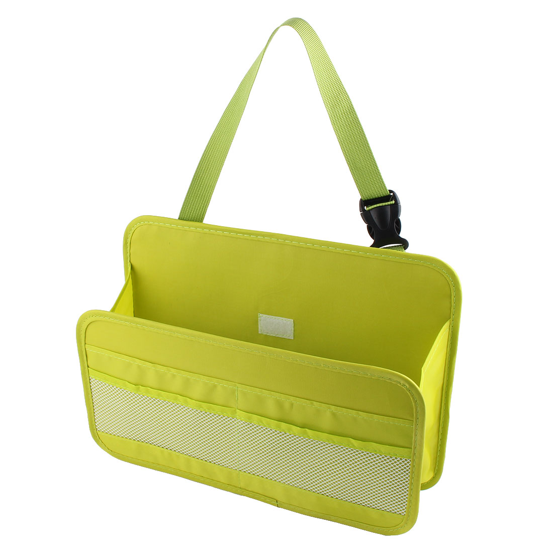 Car Automobile Multi Function Buckle Strap Phone Book Tissue Organizer Storage Box Container Lime Green