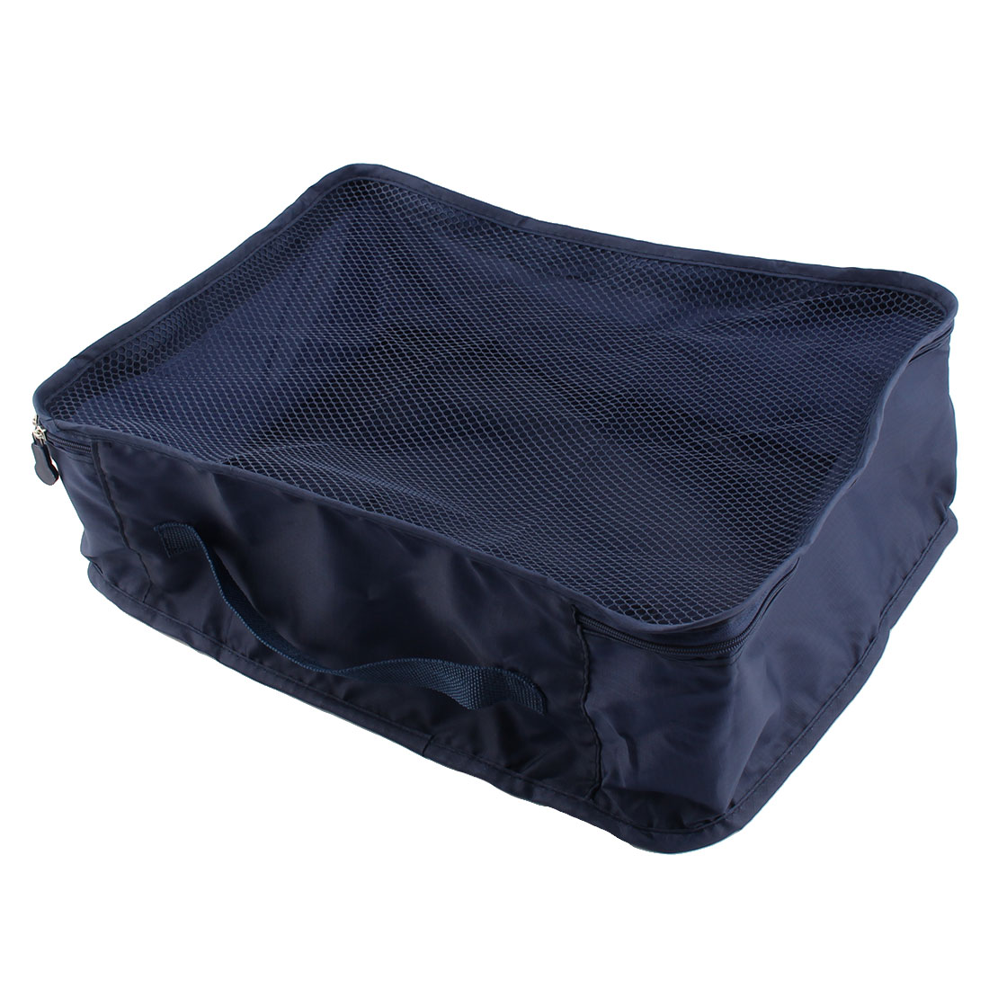 Travelling Zipper Closure Folding Mesh Packing Cube Package Pouch Bag Indigo Navy