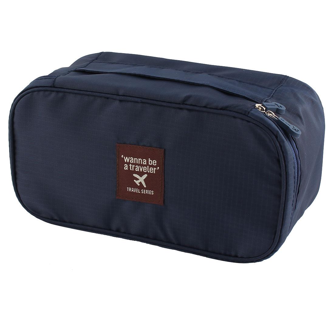 Travelling Business Trip Socks Underwear Bra Organizer Packing Bag Case Container Navy Blue