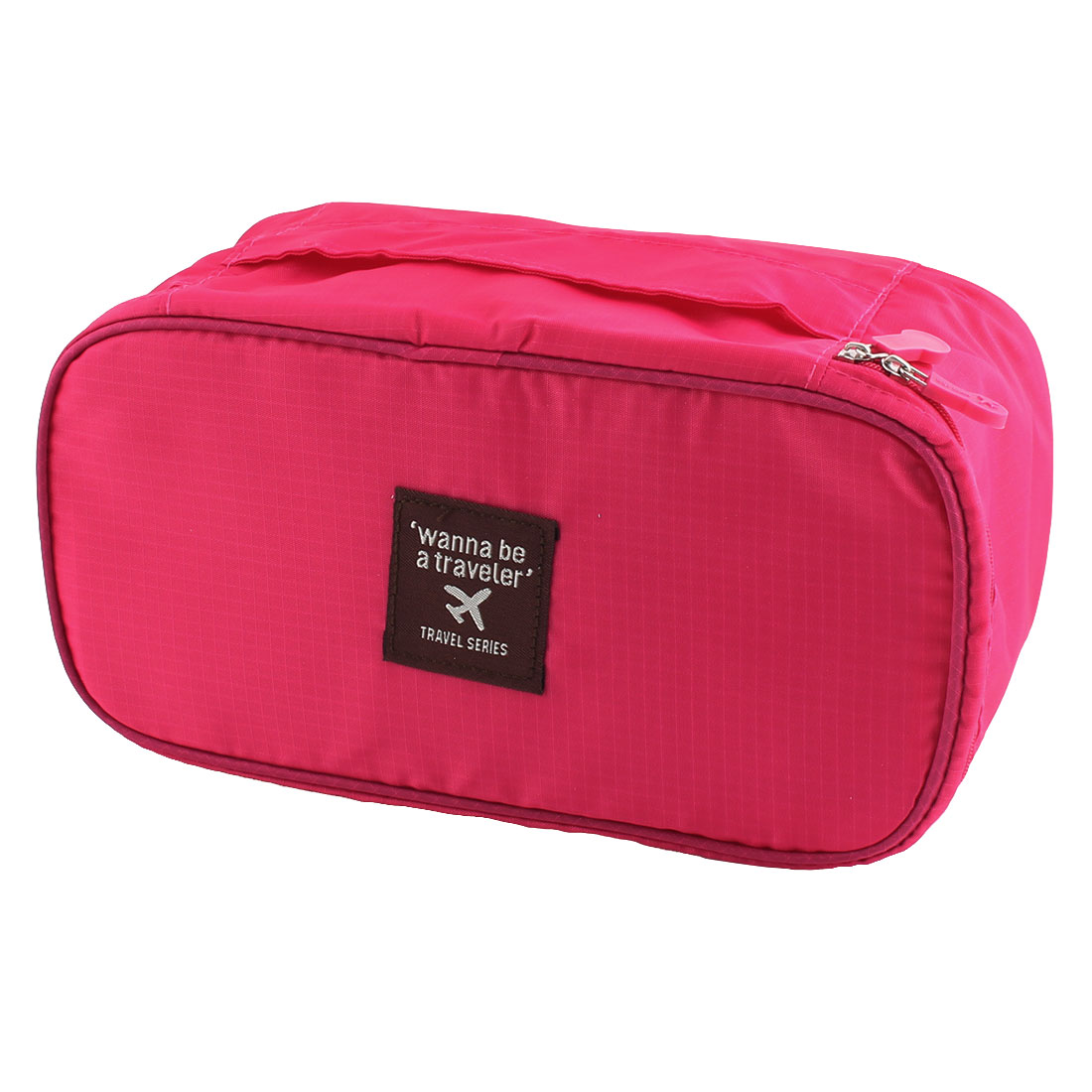 Travelling Business Trip Socks Underwear Bra Organizer Packing Bag Case Container Magenta