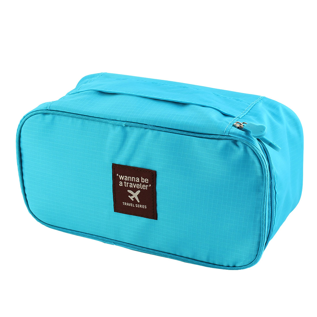 Travelling Business Trip Socks Underwear Bra Organizer Packing Bag Case Container Sky Blue