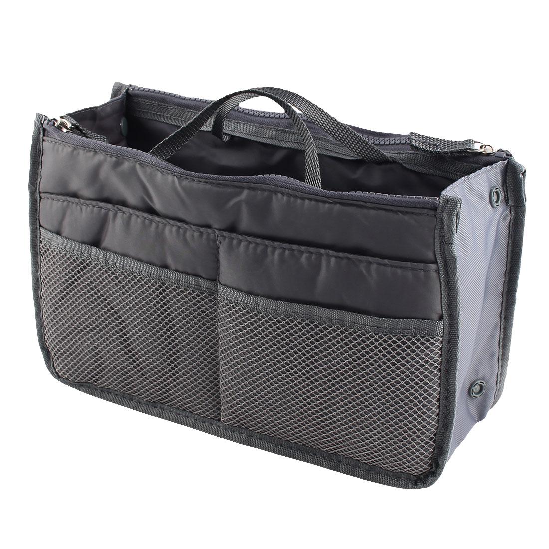 Portable Multi-functional Storage Bag Handbag Organizer Holder Container Gray