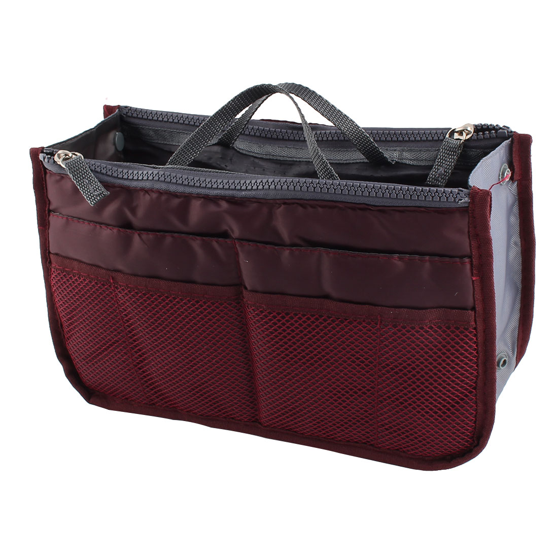 Portable Multi-functional Storage Bag Handbag Organizer Holder Container Burgundy