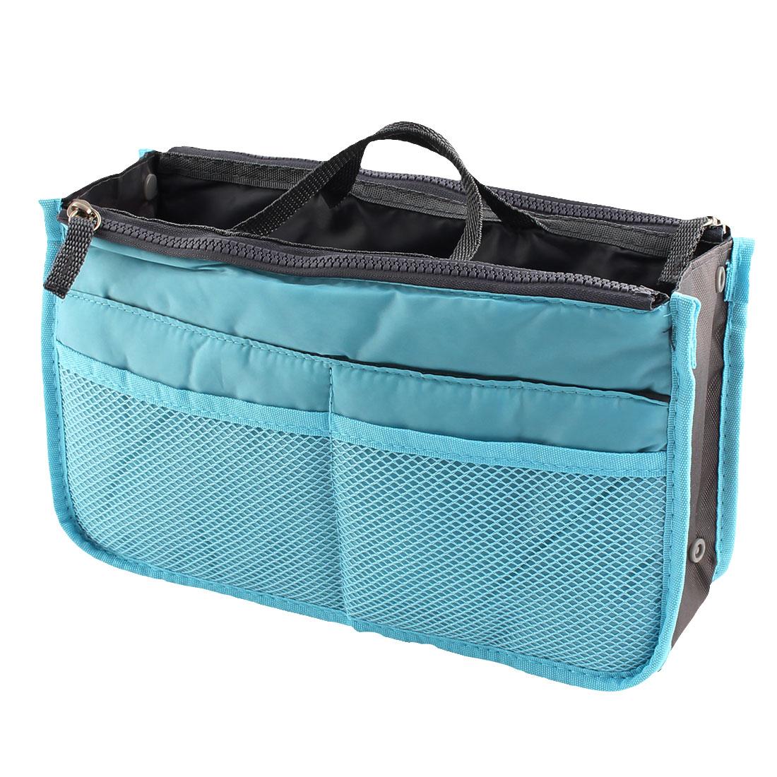 Portable Multi-functional Storage Bag Handbag Organizer Holder Container Sky Blue