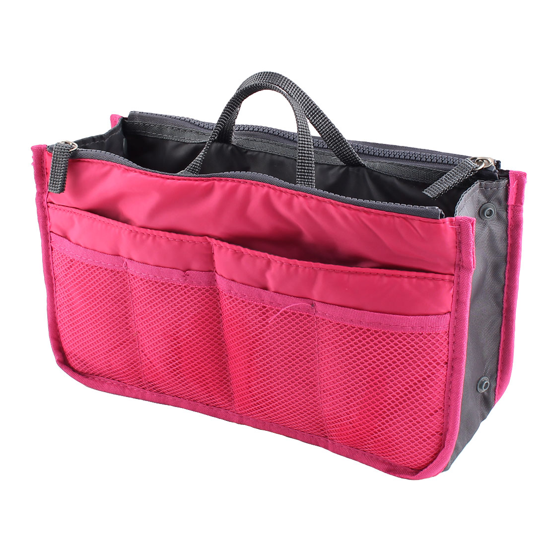 Portable Multi-functional Storage Bag Handbag Organizer Holder Container Fuchsia
