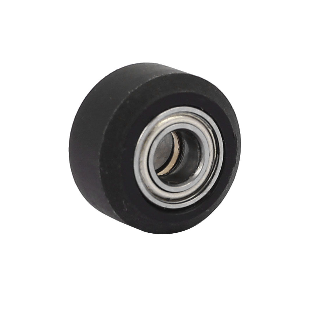15mm x 5mm x 9mm Plastic Coated Roller Tire Wheel Ball Bearing Black