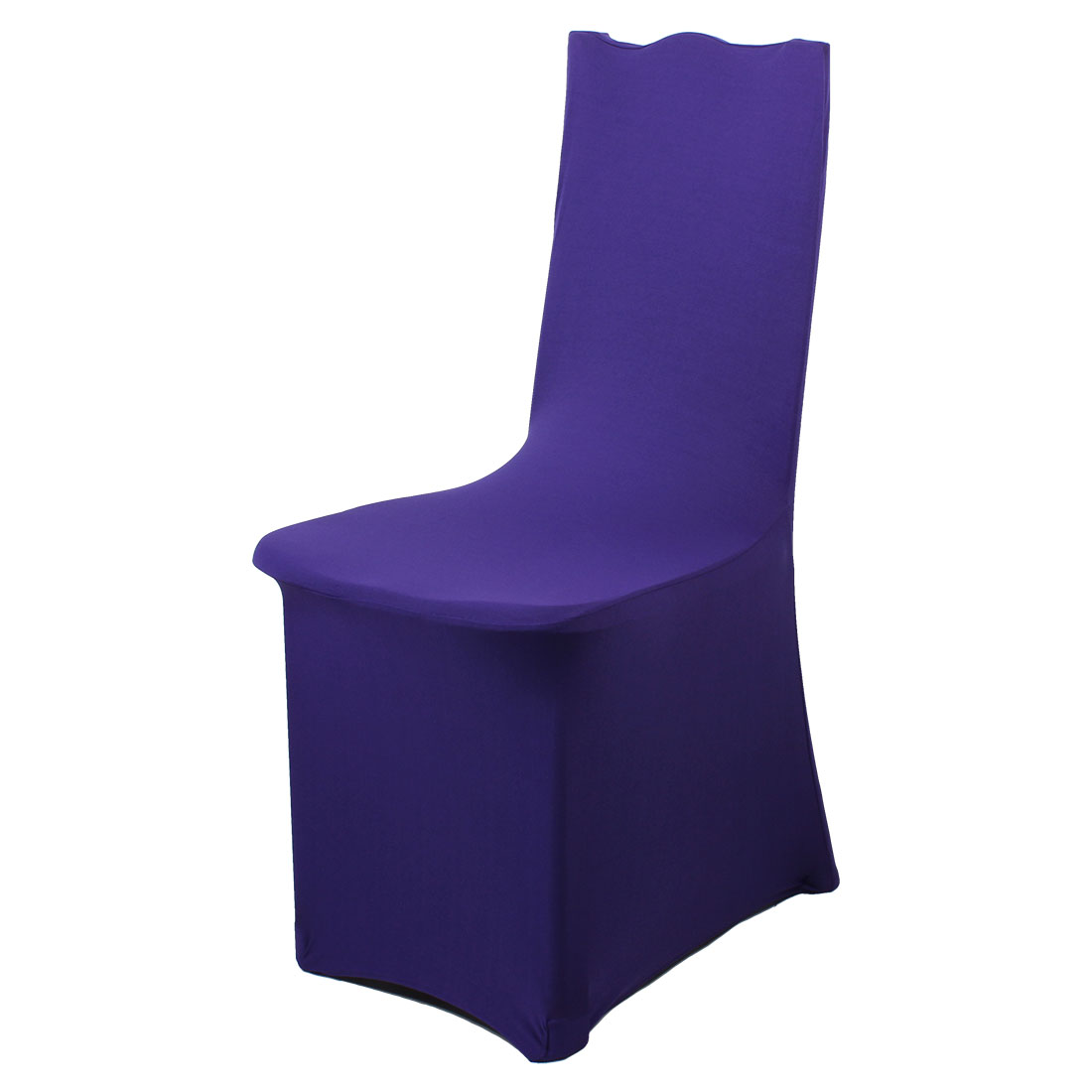 Hotel Dining Room Ceremony Kitchen Bar Chair Slipcover Restaurant Wedding Part Decor Stretchy Removable Seat Cover Dark Purple