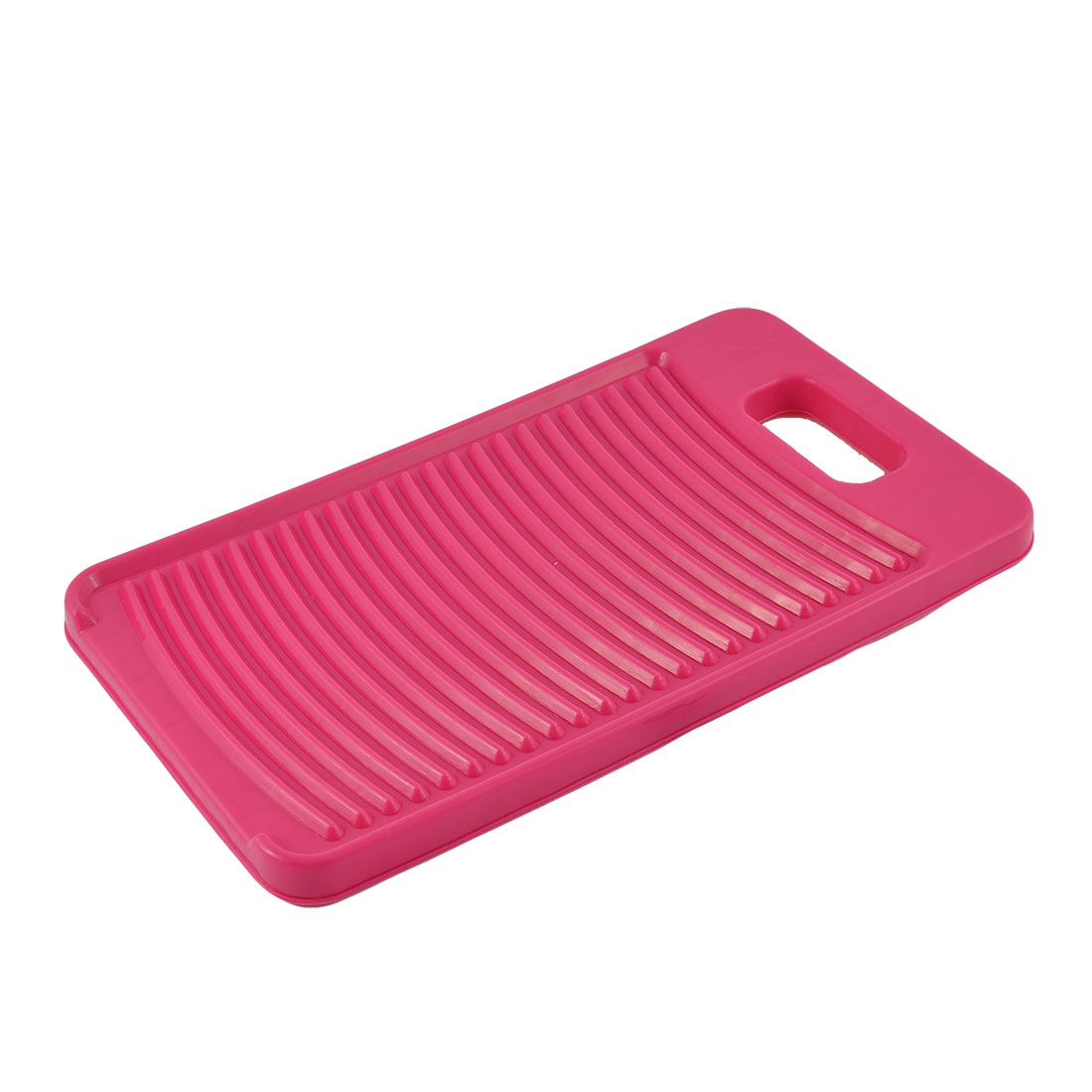 Home Laundry Plastic Thicken Rectangle Antislip Shirts Clothes Clean Washing Board Washboard Fuchsia