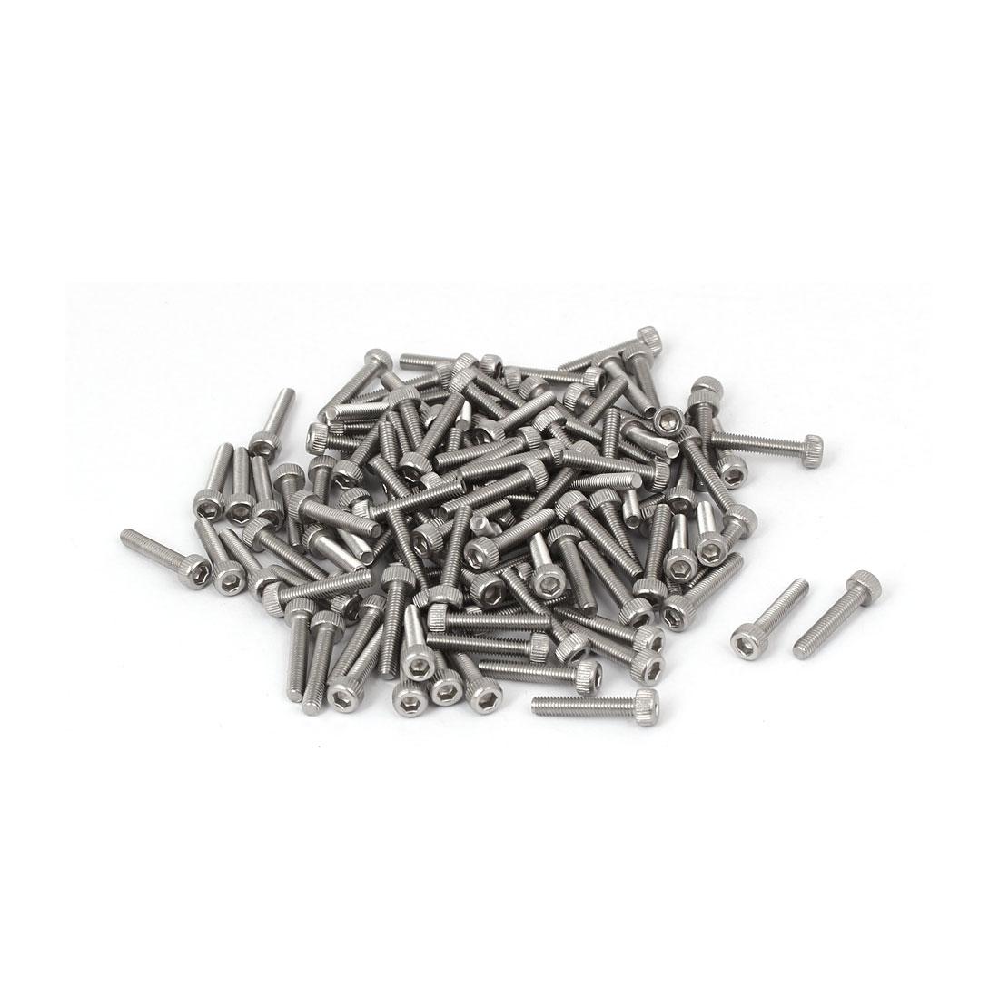 M3x16mm Thread 304 Stainless Steel Hex Socket Head Cap Screw Bolt DIN912 120pcs