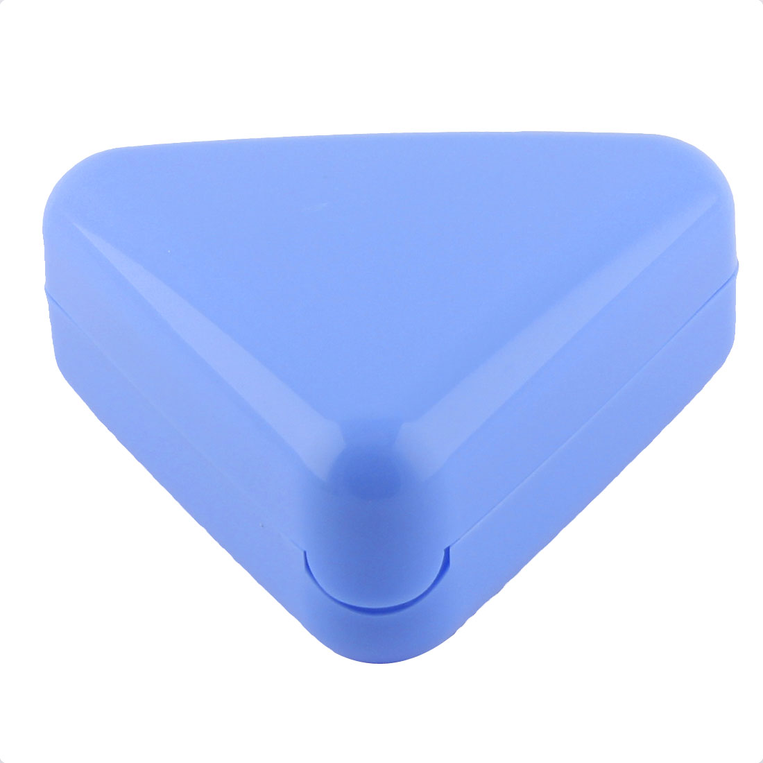 Home Kitchen Plastic Triangle Shaped Bento Rice Roll Ball Sushi Maker Mould Blue