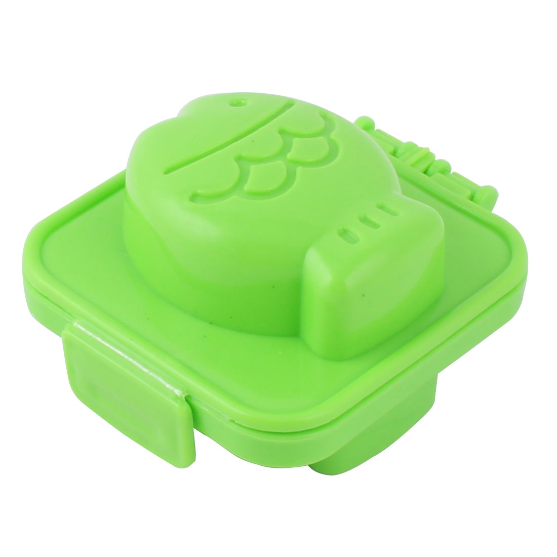 Home Bakery Kitchen Plastic Fish Shaped Sandwich Sushi Rice Mold Bread Maker Green