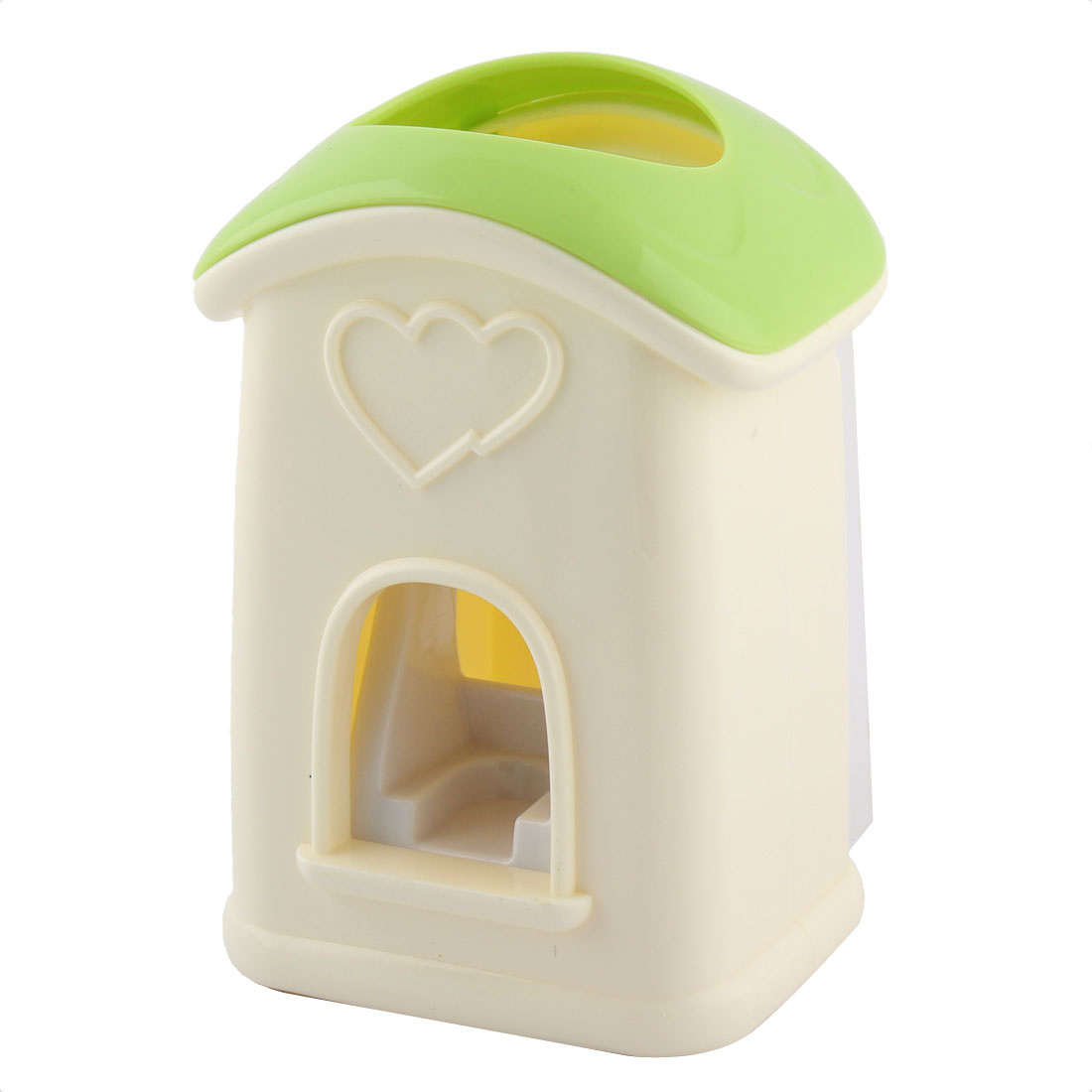 Cute House Shape Hands Free Automatic Toothpaste Dispenser Squeezer Holder Green