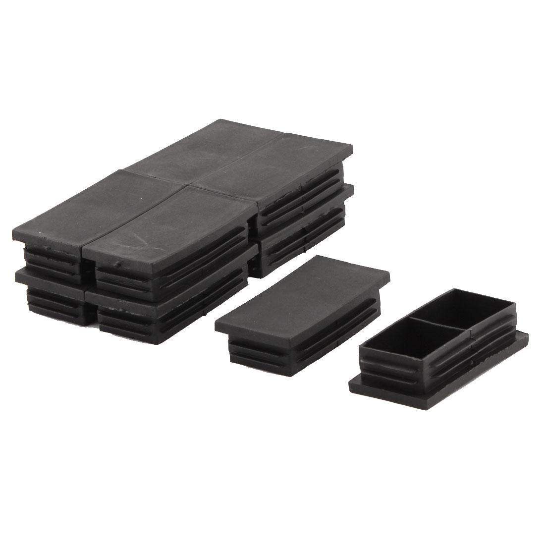 Furniture Feet Rectangle Tubing Pipe Plugs Tube Inserts Caps Covers 10 PCS