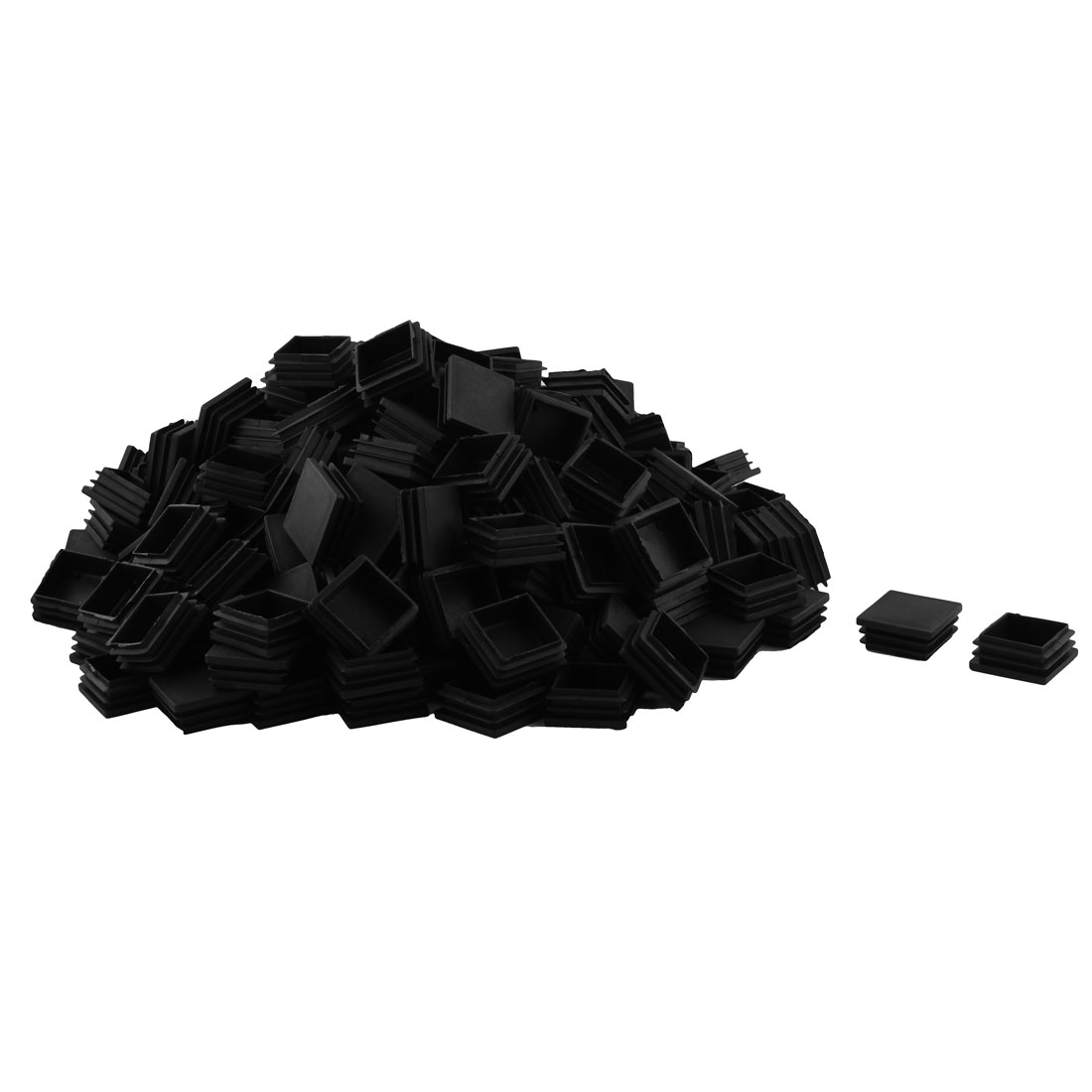 Plastic Square Design Tube Insert End Blanking Cover Cap Black 40 x 40mm 200pcs